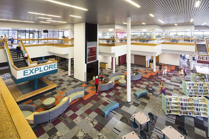 View of the Pikes Peak library space