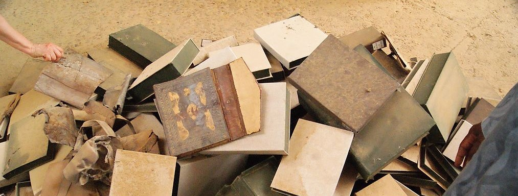 Empty manuscript boxes at IHERI-AB, Timbuktu (2013)