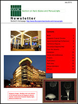 RBMS Newsletter July 2013