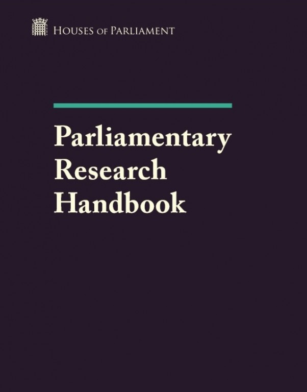 Parliamentary Research Handbook Cover