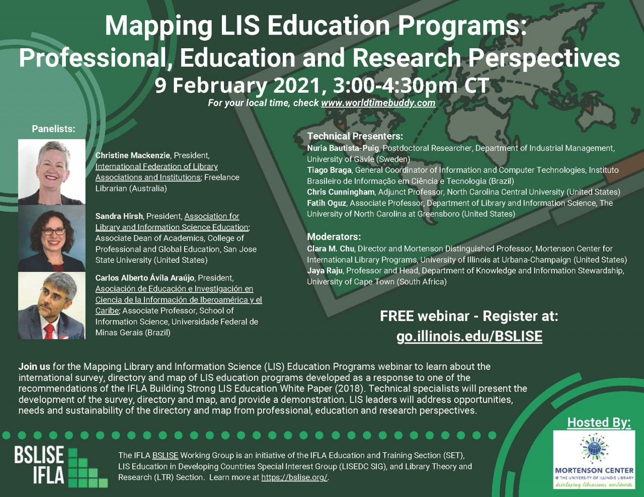 Mapping LIS Education Webinar February 9, 2021 graphic