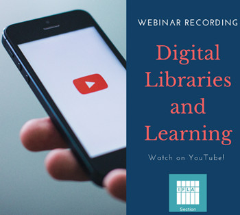 Digital Libraries and Learning Webinar with digital phone image