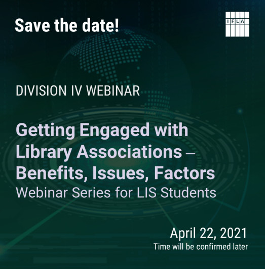 Save the date! for Division IV Webinar April 22, 2021